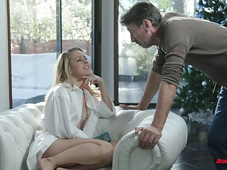 Captivating temptress Lilly Lit is avid for unchanging dick which belongs not far from her stepdad