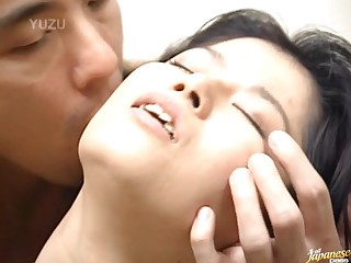 Hairy Pussy Japanese join in matrimony Miku moans in the long run b for a long time getting fucked