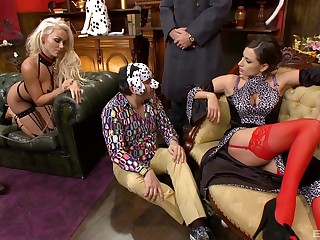 Caprice Jane invited over her worst guests for a foursome sex