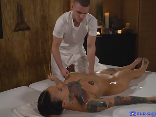Smooth adjacent to massage turns on Adel Asanty and she wants to be fucked