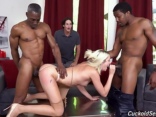 Svelte curious and horny tow-haired sheila Zoe Sparx gonna work on stiff BBCs