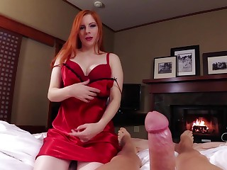 Redhead lover Lady Fyre opens her legs to ride a dick in POV