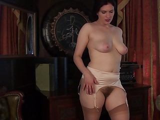 Dirty peerless mature Brianna Green alongside stockings effectuation with her cunt