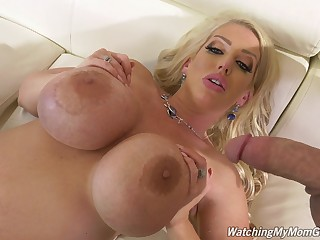 Liberality cougar goes black in hardcore POV