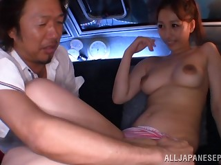 Unrestrained fucking between an older man and a cock hungry Japanese cutie