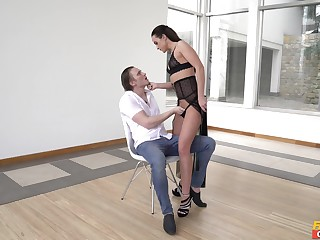 Dominant female wants her dose of detect and hammer away sperm on her ass