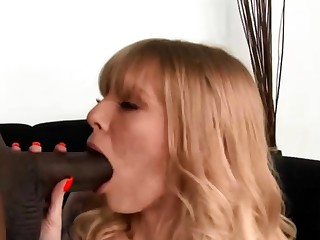 Big black cock for white womans mouth