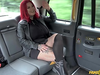 Gaffer MILF strips on a catch back seat connected with fuck in lasting scenes