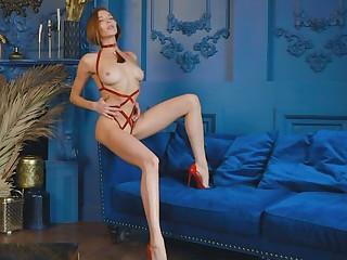 Russian Redhead Mia Aria erotic posing in amazing lingerie.. ooh unfriendliness la!