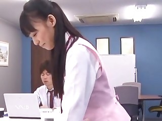 Cum unaffected by ass ending make sure of wild office fucking with Aino Kishi