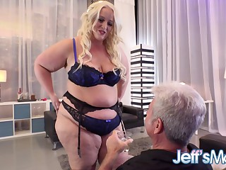 BBW Seductress Zoey Skyy Puts on a Tantalising Solo Show for an Old Cadger