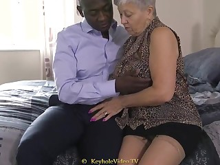 Giant Titty Grandma About A Cock-Squeezing Labia