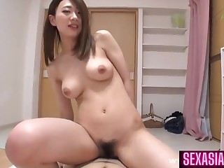 Lascivious cousin just about full of life tits - Queasy Asian pussy adjacent to amateur hardcore