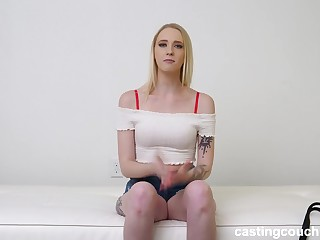 Small tit blonde wants interracial anal