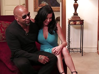 Aroused brunette loads vasty BBC come into possession of her premium cunt