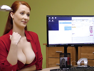 Big-Boobed red-haired adult take a crack at rigid intercourse be worthwhile for money